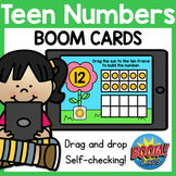 Teen Numbers BOOM Cards Distance Learning