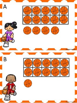 Teen Numbers -Ten And Some More Basketball