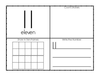 11-20 'Teen' Numbers Book