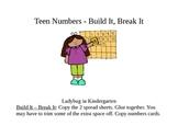 Teen Numbers Build It, Break It