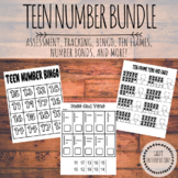 Teen Numbers Bundle! Assessment, Bingo, Matching Cards, Addition