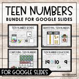 Teen Numbers Bundle for Google Slides - Distance Learning