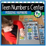 Teen Numbers Center {Bubble Trouble Missing Numbers}