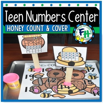 Teen Numbers Center {Honey Bear Count & Cover}