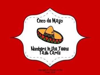 Teen Numbers Cinco de Mayo themed Task Cards