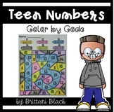 FREE Teen Numbers- Color by Code
