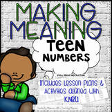 Teen Numbers Composing and Decomposing Lesson Plans and Activities