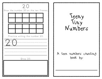 Teen Numbers Counting Book