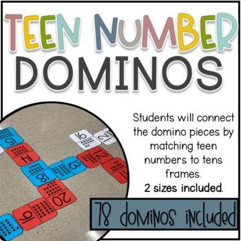 Teen Numbers Dominos