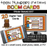 Teen Numbers {Fall Edition} PAPERLESS Digital BOOM Task Cards {NO PREP!}