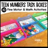 Teen Numbers Fine Motor Skills Task Boxes