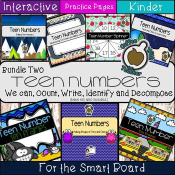#bundleupwithtpt Teen Numbers: (Growing Bundle Smart Board)
