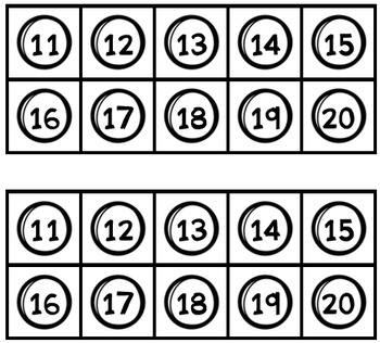 Teen Numbers Gumball Counting Strips! Count using anchors of 5 & 10!