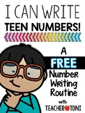 Teen Numbers: I can write teen numbers! (FREE Distant Lear