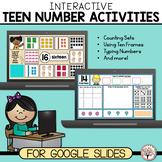 Teen Numbers   Interactive Activities for Google Slides