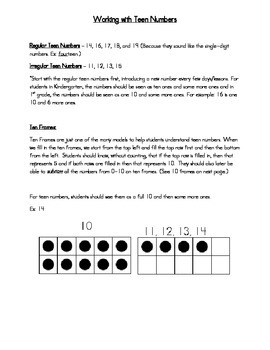 Teen Numbers (K.NBT.1 and 1.NBT.2b)