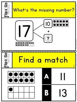 Teen Numbers - Kindergarten Math Tasks Cards