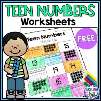 Teen Numbers Matching Activity FREEBIE!