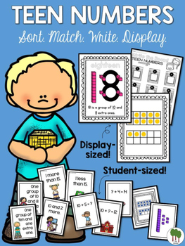 Teen Numbers - Matching - Sorting - Touch Dots - Teen Number Write the Room