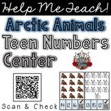 Teen Numbers Math Center: Arctic Animals