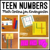 Teen Numbers Kindergarten Math Centers