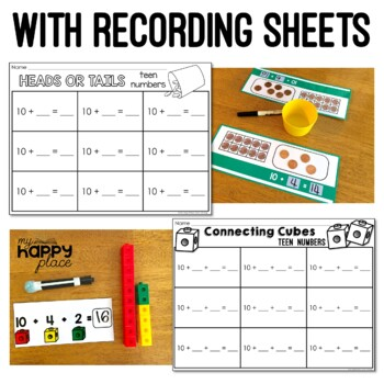 Teen Numbers Centers for Kindergarten Math