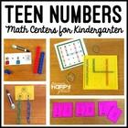 Teen Numbers Centers for Kindergarten