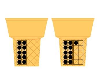 Teen Numbers Math Matching Activity (Ice Cream Theme), Common Core!