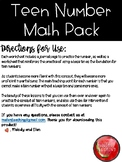 Teen Numbers Math Pack