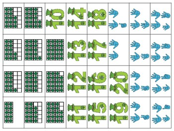 Teen Numbers Math Saint Patrick's Day Craft: Ten Frames, numerals, tally marks