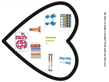 Teen Numbers Math Valentine Hearts Craft: Ten Frames, numerals, tally marks