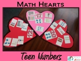 Teen Numbers Math Valentine Hearts Craft: Ten Frames, nume