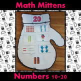 Teen Numbers Math Winter Mittens Craft: Ten frames, numera