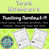 Teen Numbers - Place Value, Expanded Notation, Base Ten, a