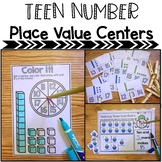 Teen Numbers Place Value Math Centers