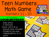 Teen Numbers Poster Board Math Game