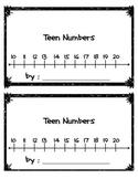 Teen Numbers Practice Book