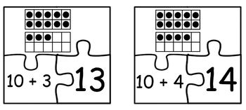 Teen Numbers Puzzles