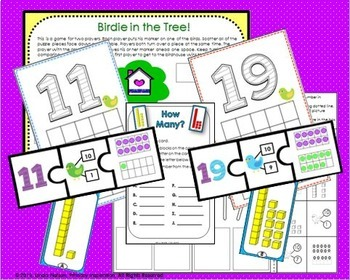 Teen Numbers ~ Puzzles, Clay Mats, and Task Cards