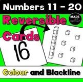 Teen Numbers Reversible Cards