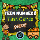 Teen Numbers Task Cards Fall Theme (Number Sense)