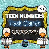 Teen Numbers Task Cards Winter Theme - Number Sense