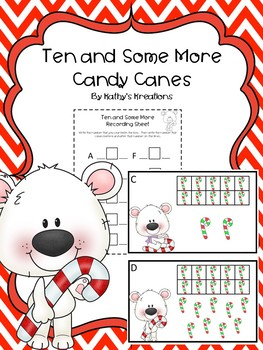 Teen Numbers Ten And Some More Candy Canes
