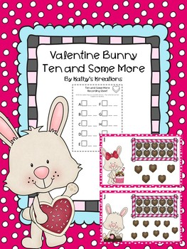 Teen Numbers Ten And Some More Valentine Bunny