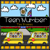 Teen Numbers: Ten Frame School Buses (SMART Board File)
