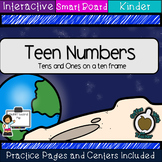 Teen Numbers: Tens and Ones on a Ten Frame: Space  (SMART Board)