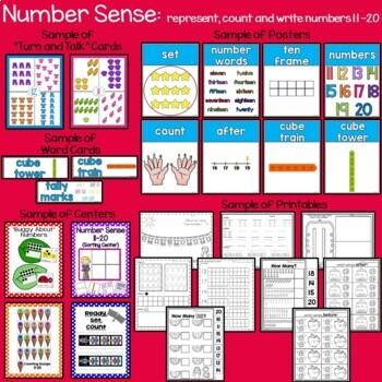 Teen Numbers Number Sense 11-20: Part 3 For Kinders