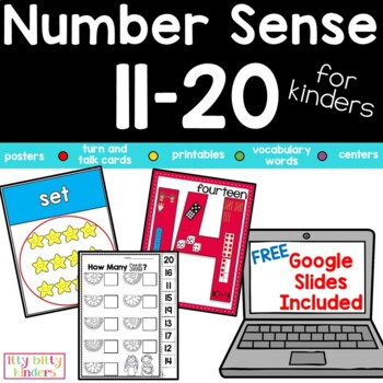 Teen Numbers Number Sense 11-20: Part 3 For Kinders