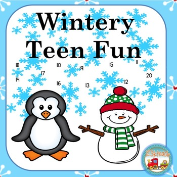 Teen Numbers Winter Fun Print and Go