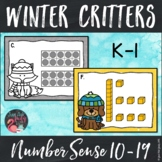 Number Sense Activity Winter Critter Teen Numbers 10-19